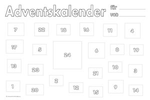adventskalender druckvorlagen mit 24 fenstern. Black Bedroom Furniture Sets. Home Design Ideas